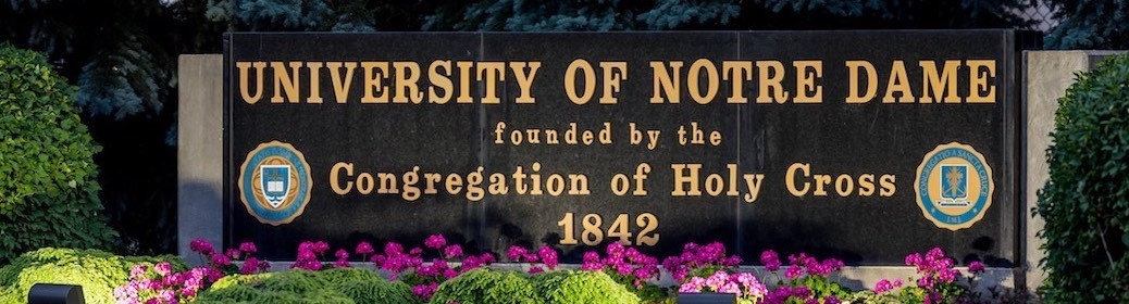 University of Notre Dame sign